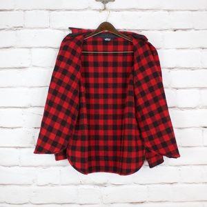 Woolrich Shirts - Woolrich Red Black Buffalo Plaid Wool Button Shirt